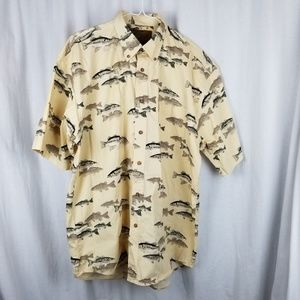 North River shirt size M yellow trout fishing